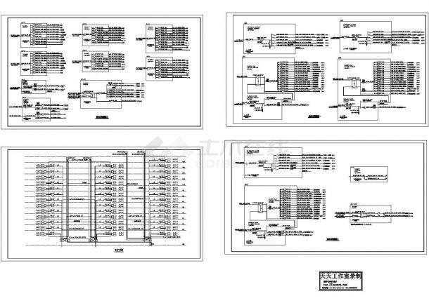某15层底商住宅楼强电系统图CAD版-图二