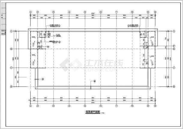 办公楼设计_某地七层砖混结构办公楼设计cad全套建筑施工图(甲级院设计)-图一