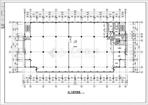 办公楼设计_某地七层砖混结构办公楼设计cad全套建筑施工图(甲级院设计)-图二