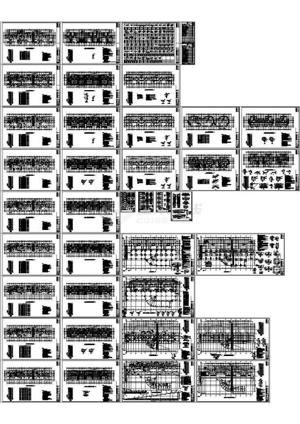 九层剪力墙结构住宅楼结构施工图dwg-图一