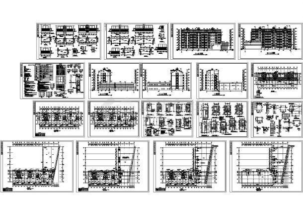 某豪华小区多层框架结构住宅楼建筑施工图纸(含说明)cad版-图一