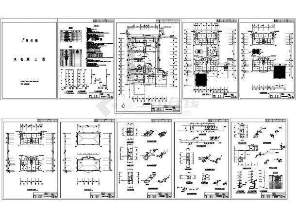某城市6层商住楼给排水施工图(说明)-图一