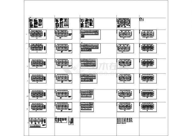剪力墙结构住宅楼结构施工图(18层筏板基础)CAD版-图一