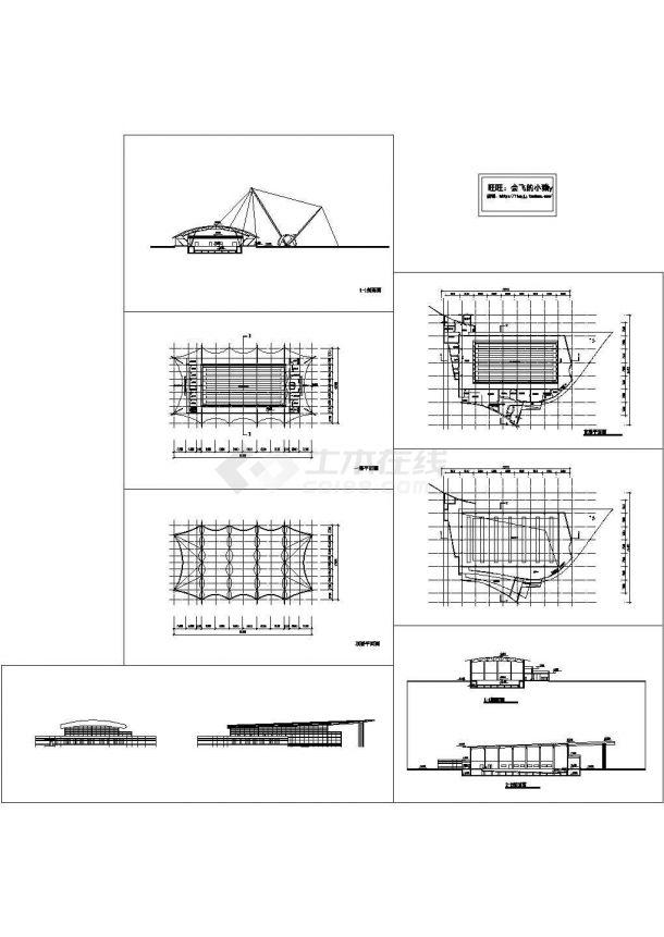 2层游泳馆建筑方案设计图 【平立剖】-图一