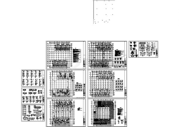 框架剪力墙结构住宅楼结构施工图(17层人防地下室)cad版-图一