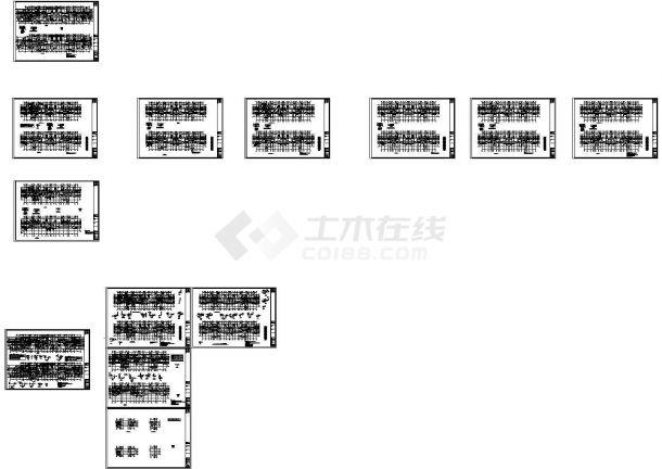 25层复杂高层剪力墙结构住宅楼结构施工图(坡屋顶)CAD版-图一