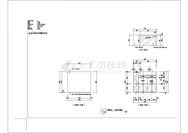 某地60平方服装展厅设计cad施工图-图二