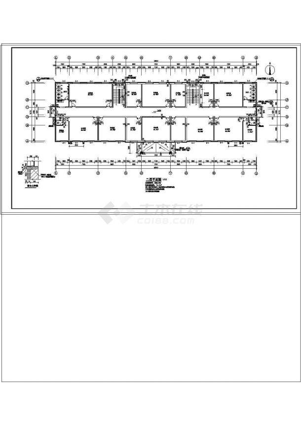 办公楼设计_【山西】某高层办公楼给排水设计cad施工图纸-图二