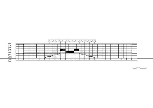 -1+6层大型椭圆形体育场建筑方案设计图 cad-图二