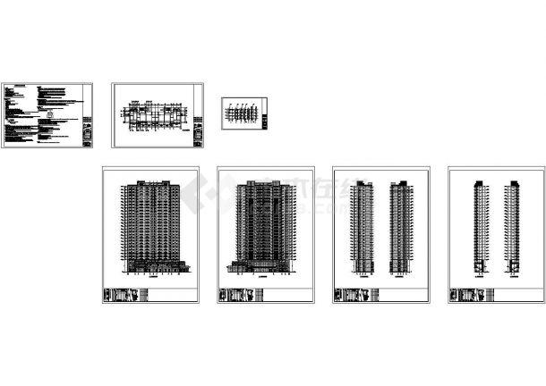 上海某小区装配式住宅楼设计cad全套建筑施工图纸(含设计说明,含结构设计)-图一