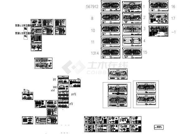 大型医院综合楼全套电气施工设计图纸(含完整二次控制原理图)-图一