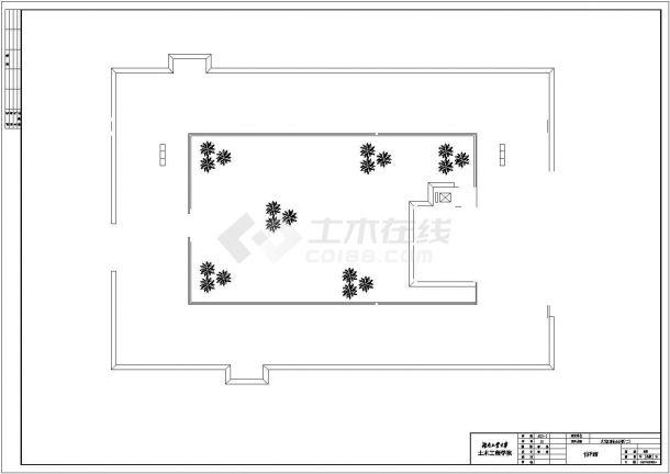 办公楼设计_某商业办公楼全套建筑设计图纸(含计算书、施工组织设计、建筑结构设计图)-图一