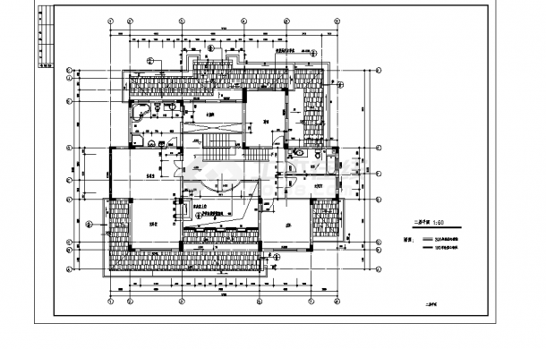 2套单家独院式别墅设计施工cad图纸-图二