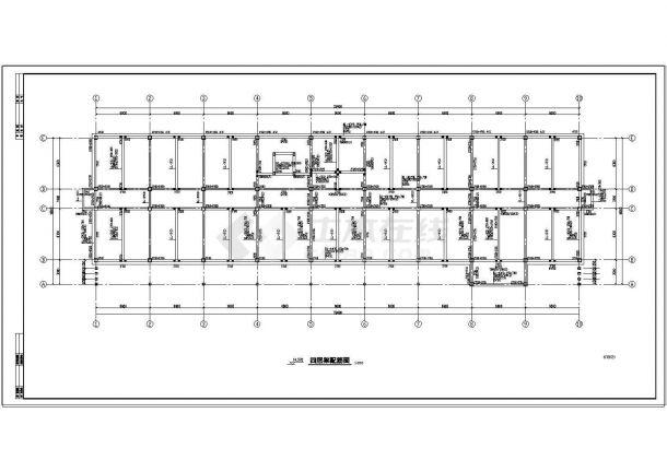 办公楼设计_某地五层办公楼钢筋砼框架结构设计cad施工图-图一