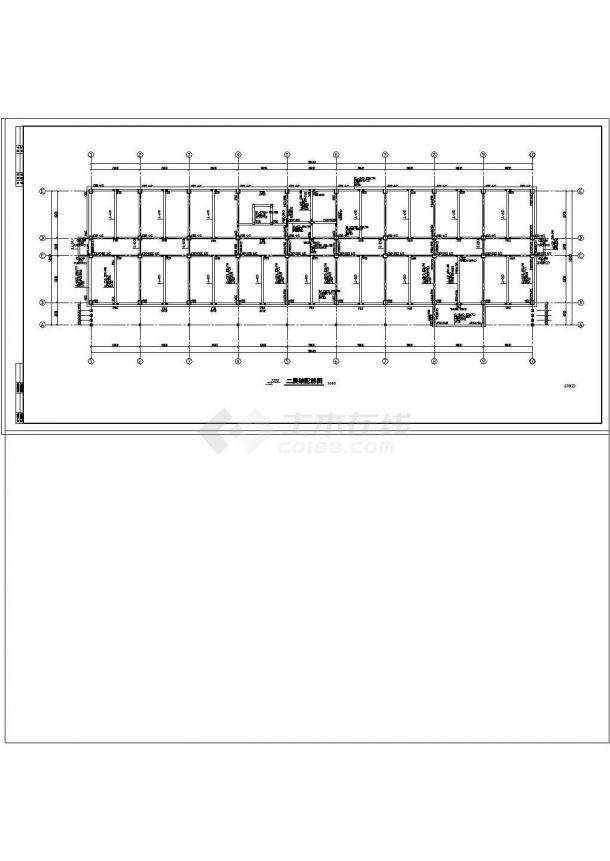 办公楼设计_某地五层办公楼钢筋砼框架结构设计cad施工图-图二