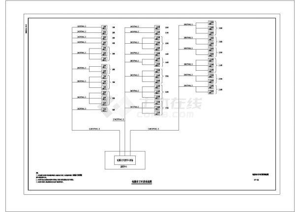 某13万平方米现代多层住宅楼小区(智能化新型社区)弱电系统设计cad全套施工图纸(含设计说明,含多栋楼设计,80多张图)-图一