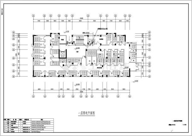 某13万平方米现代多层住宅楼小区(智能化新型社区)弱电系统设计cad全套施工图纸(含设计说明,含多栋楼设计,80多张图)-图二