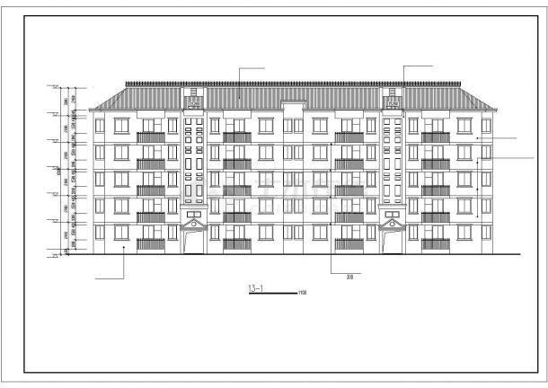 某大型6层框混结构民居住宅楼建筑CAD设计图纸(含阁楼)-图一