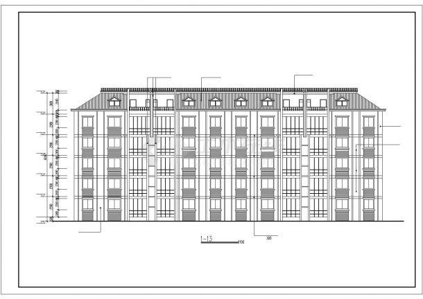 某大型6层框混结构民居住宅楼建筑CAD设计图纸(含阁楼)-图二