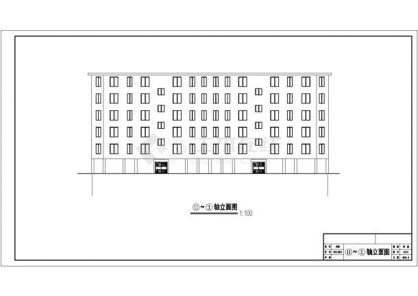 某县城6层框架结构住宅楼建筑CAD设计图纸(含架空层)-图二