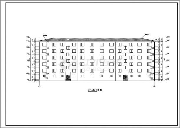 成都市凤苑小区4100平米五层砖混结构住宅楼建筑CAD设计图纸-图一