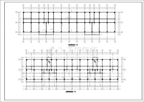 某家属院五层砖混结构住宅楼全套结构设计CAD图纸-图一