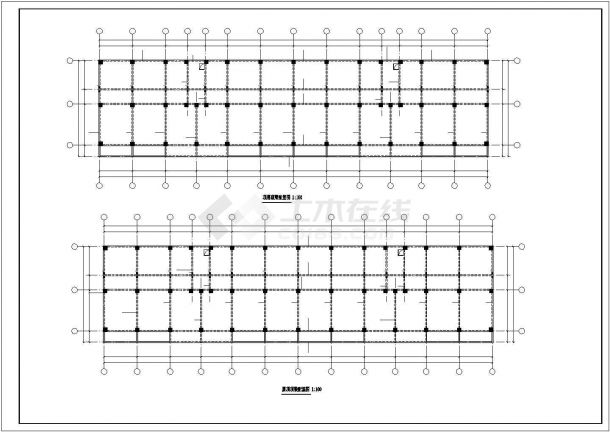 某家属院五层砖混结构住宅楼全套结构设计CAD图纸-图二