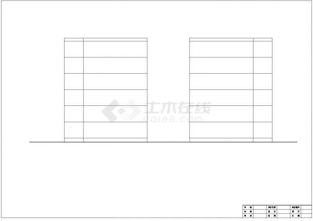 某小区3300平米6层砖混结构住宅楼建筑结构CAD设计图纸-图一