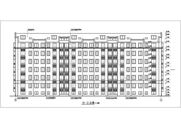3470平米7层砖混结构住宅楼全套建筑CAD设计图纸(含阁楼层)-图二