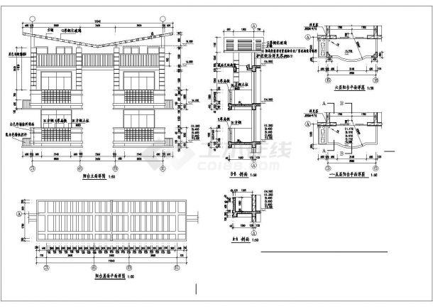 武汉市某小区3470平米6层砖混结构住宅楼全套建筑CAD设计图纸-图一