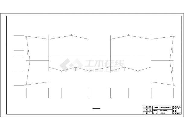 办公楼设计_某七层砖混结构办公楼建筑设计施工cad图纸-图一