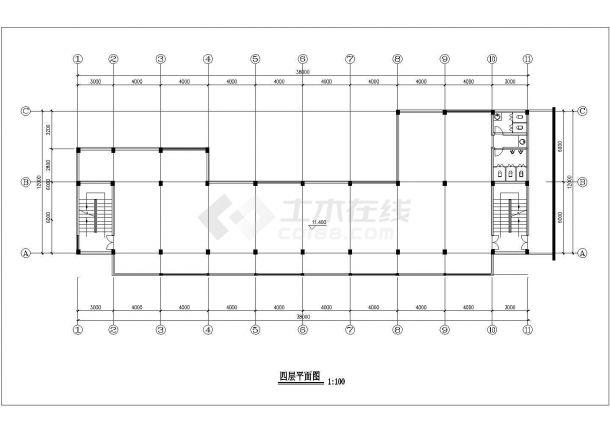某地六层商业建筑设计cad方案图-图一