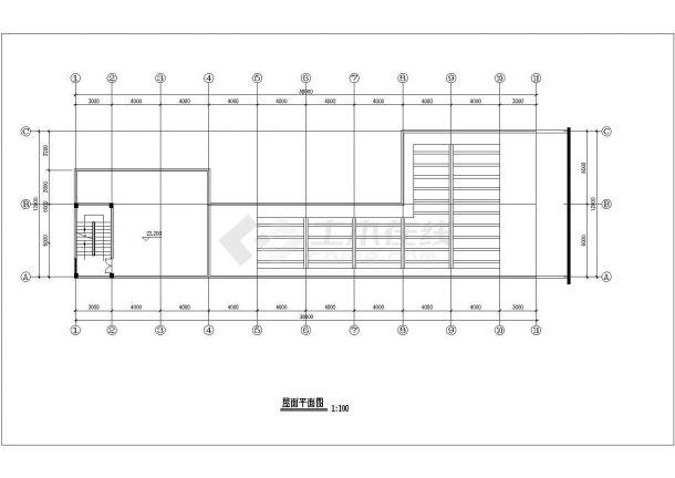 某地六层商业建筑设计cad方案图-图二