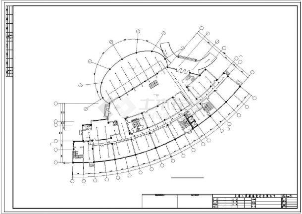 办公楼设计_某城市高层办公楼给排水设计施工cad图纸-图一