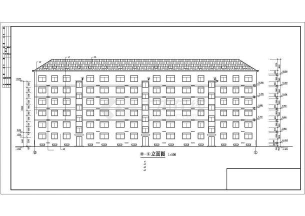 4000平米7层砌体结构住宅楼建筑CAD设计图纸(含阁楼层)-图一