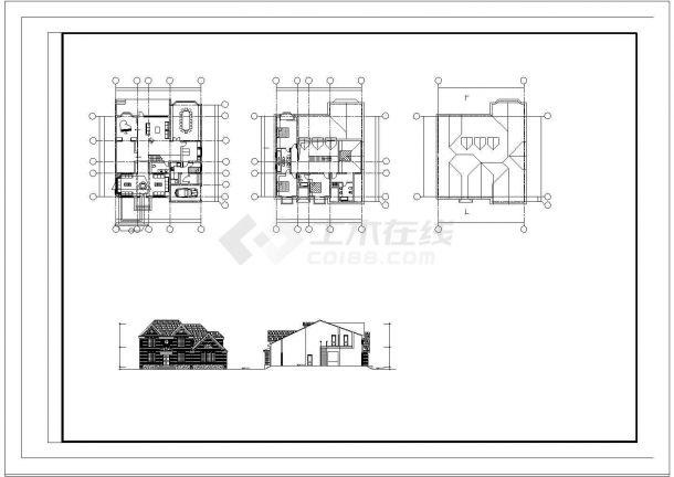 两层乡村单家独院式别墅建筑方案施工图-图一