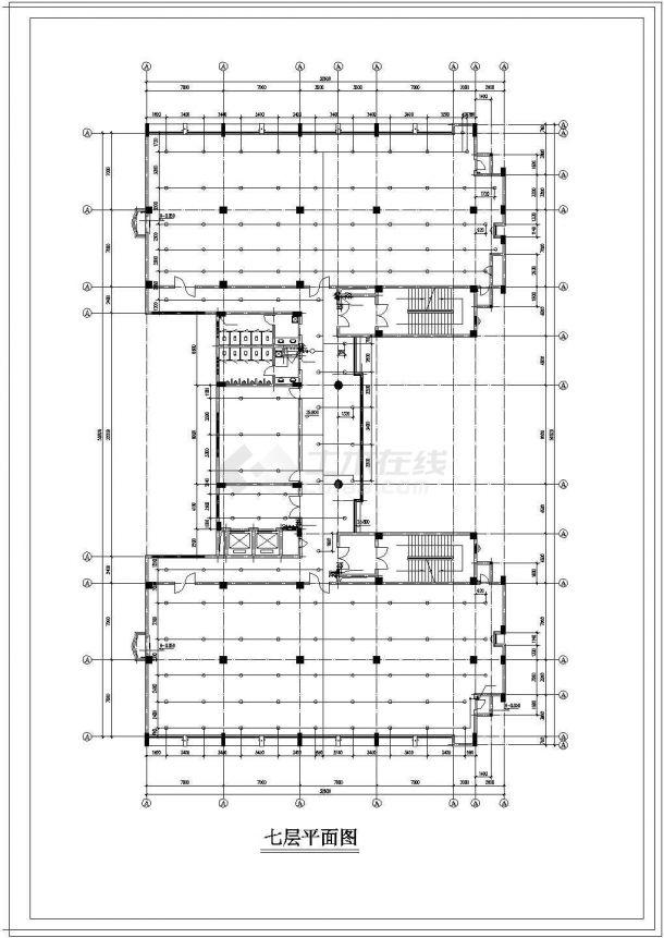 办公楼设计_某高层办公楼给排水cad设计施工图纸-图一