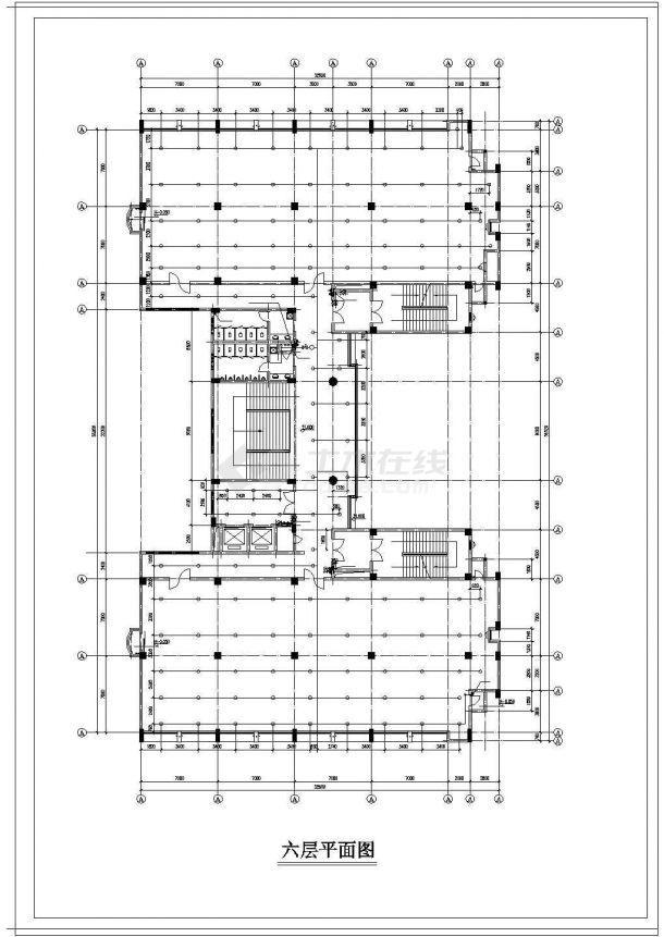 办公楼设计_某高层办公楼给排水cad设计施工图纸-图二