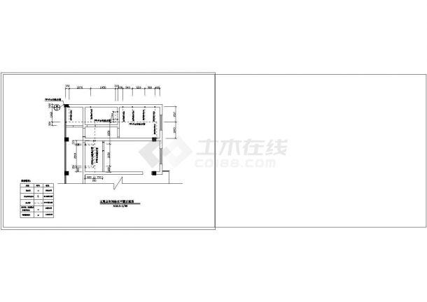 办公楼设计_某地高层办公楼给排水系统设计cad图纸-图一