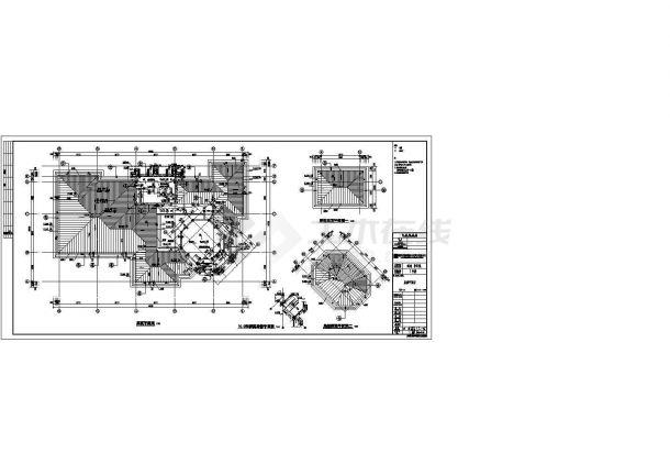 [四川]某坡屋顶瓦屋面知名房地产售楼中心建筑施工图-图二