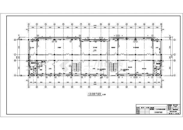 某城市气化工程生活楼及办公楼采暖全套cad施工图-图一