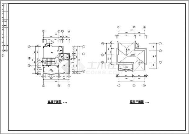 【杭州】某郊区三层别墅建筑结构全套施工图-图二