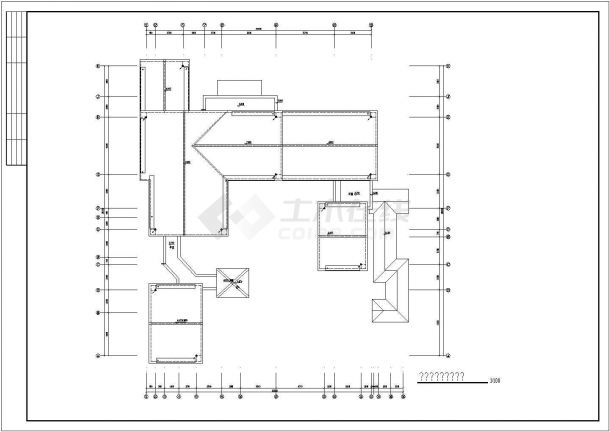 苏州某二层仿古别墅建筑结构施工图(含平面布置图)-图一