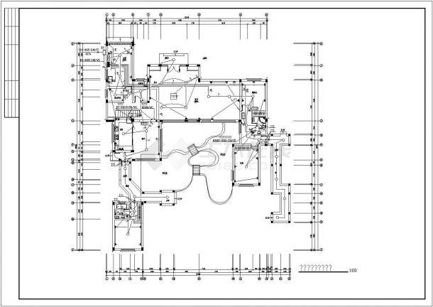 苏州某二层仿古别墅建筑结构施工图(含平面布置图)-图二