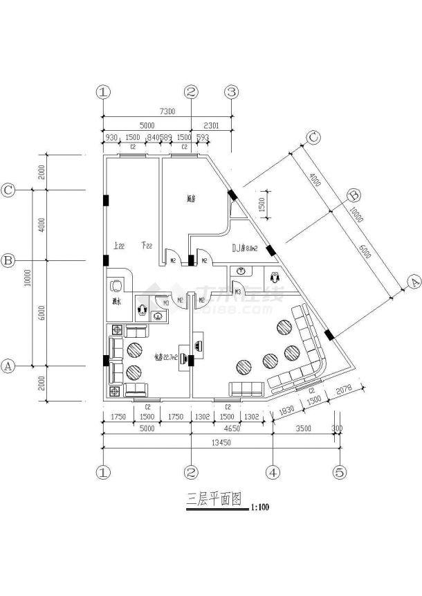 某市高级酒店建筑方案图纸-图一