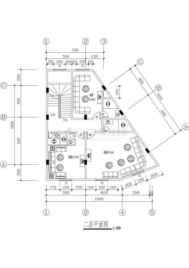 某市高级酒店建筑方案图纸-图二