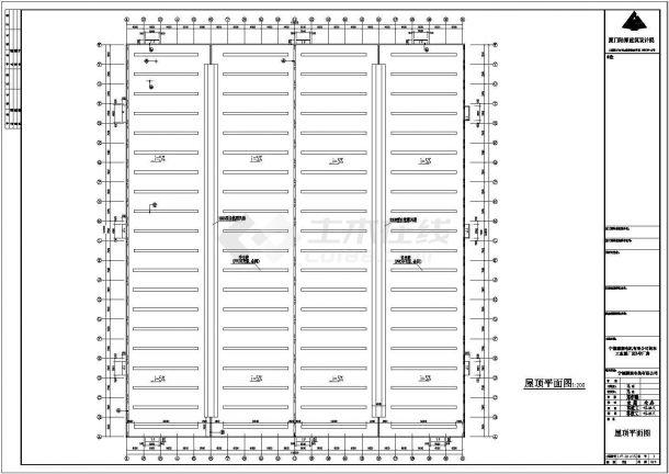 某公司电机公司钢结构工程设计CAD图-图二