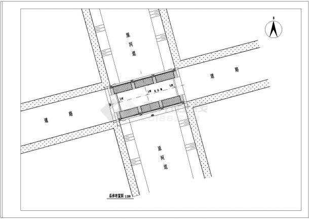 苏州某老年人活动中心景观桥全套施工设计cad图-图二