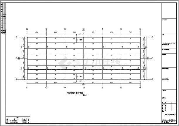 15米×40米钢结构工程设计CAD图-图一