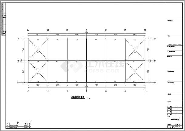 15米×40米钢结构工程设计CAD图-图二